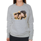 Sidney Maurer Original Portrait Of The Beatles Side Profile Womens Sweatshirt - Womens Sweatshirt