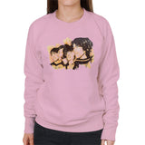 Sidney Maurer Original Portrait Of The Beatles Side Profile Womens Sweatshirt - Small / Light Pink - Womens Sweatshirt