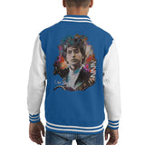 Sidney Maurer Original Portrait Of Bob Dylan Kids Varsity Jacket - X-Small (3-4 yrs) / Royal/White - Kids Boys Varsity Jacket