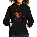 Sidney Maurer Original Portrait Of David Bowie Earring Kids Hooded Sweatshirt - Kids Boys Hooded Sweatshirt