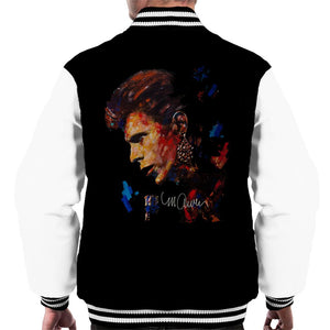 Sidney Maurer Original Portrait Of David Bowie Earring Mens Varsity Jacket - Mens Varsity Jacket