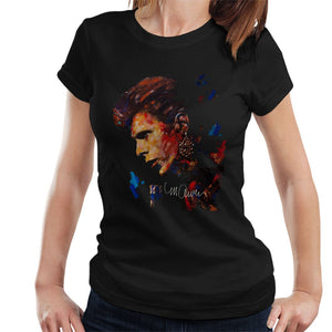 Sidney Maurer Original Portrait Of David Bowie Earring Womens T-Shirt - Womens T-Shirt