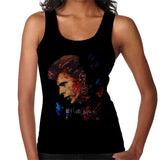 Sidney Maurer Original Portrait Of David Bowie Earring Womens Vest - Womens Vest