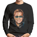 Sidney Maurer Original Portrait Of Elton John Mens Sweatshirt - Mens Sweatshirt