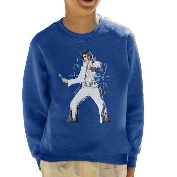 Sidney Maurer Original Portrait Of Elvis Presley Kids Sweatshirt - Kids Boys Sweatshirt