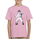 Sidney Maurer Original Portrait Of Elvis Presley Kids T-Shirt - X-Small (3-4 yrs) / Light Pink - Kids Boys T-Shirt