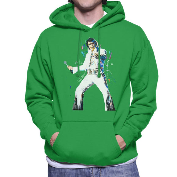 Sidney Maurer Original Portrait Of Elvis Presley Mens Hooded Sweatshirt - Mens Hooded Sweatshirt
