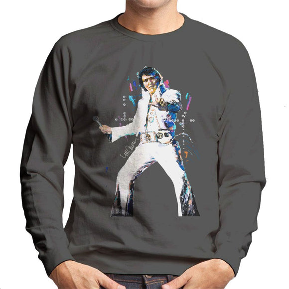 Sidney Maurer Original Portrait Of Elvis Presley Mens Sweatshirt - Mens Sweatshirt