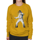 Sidney Maurer Original Portrait Of Elvis Presley Womens Sweatshirt - Womens Sweatshirt