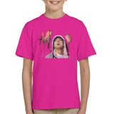 Sidney Maurer Original Portrait Of Eminem Kids T-Shirt - X-Small (3-4 yrs) / Hot Pink - Kids Boys T-Shirt