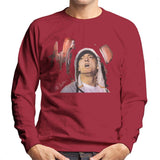 Sidney Maurer Original Portrait Of Eminem Mens Sweatshirt - Small / Cherry Red - Mens Sweatshirt