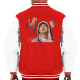 Sidney Maurer Original Portrait Of Eminem Mens Varsity Jacket - Small / Red/White - Mens Varsity Jacket