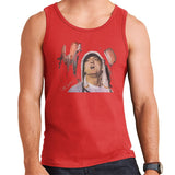 Sidney Maurer Original Portrait Of Eminem Mens Vest - Small / Red - Mens Vest