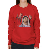 Sidney Maurer Original Portrait Of Eminem Womens Sweatshirt - Womens Sweatshirt