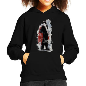 Sidney Maurer Original Portrait Of Frank Sinatra Side Shot Kids Hooded Sweatshirt - Kids Boys Hooded Sweatshirt