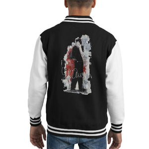 Sidney Maurer Original Portrait Of Frank Sinatra Side Shot Kids Varsity Jacket - Kids Boys Varsity Jacket