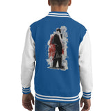 Sidney Maurer Original Portrait Of Frank Sinatra Side Shot Kids Varsity Jacket - X-Small (3-4 yrs) / Royal/White - Kids Boys Varsity Jacket