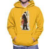 Sidney Maurer Original Portrait Of Frank Sinatra Side Shot Mens Hooded Sweatshirt - Small / Gold - Mens Hooded Sweatshirt