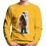 Sidney Maurer Original Portrait Of Frank Sinatra Side Shot Mens Sweatshirt - Small / Gold - Mens Sweatshirt