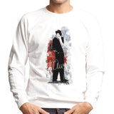 Sidney Maurer Original Portrait Of Frank Sinatra Side Shot Mens Sweatshirt - Mens Sweatshirt