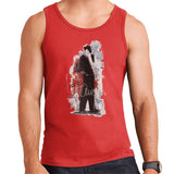 Sidney Maurer Original Portrait Of Frank Sinatra Side Shot Mens Vest - Small / Red - Mens Vest