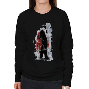 Sidney Maurer Original Portrait Of Frank Sinatra Side Shot Womens Sweatshirt - Womens Sweatshirt