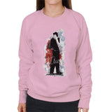 Sidney Maurer Original Portrait Of Frank Sinatra Side Shot Womens Sweatshirt - Small / Light Pink - Womens Sweatshirt