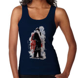 Sidney Maurer Original Portrait Of Frank Sinatra Side Shot Womens Vest - Small / Navy Blue - Womens Vest