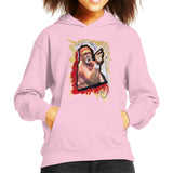Sidney Maurer Original Portrait Of Hulk Hogan Kids Hooded Sweatshirt - X-Small (3-4 yrs) / Light Pink - Kids Boys Hooded Sweatshirt