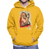 Sidney Maurer Original Portrait Of Hulk Hogan Mens Hooded Sweatshirt - Small / Gold - Mens Hooded Sweatshirt