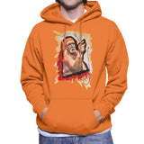Sidney Maurer Original Portrait Of Hulk Hogan Mens Hooded Sweatshirt - Mens Hooded Sweatshirt