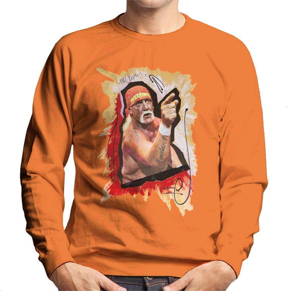 Sidney Maurer Original Portrait Of Hulk Hogan Mens Sweatshirt - Mens Sweatshirt