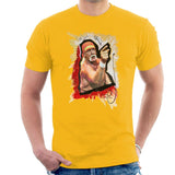 Sidney Maurer Original Portrait Of Hulk Hogan Mens T-Shirt - Small / Gold - Mens T-Shirt