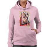 Sidney Maurer Original Portrait Of Hulk Hogan Womens Hooded Sweatshirt - Small / Light Pink - Womens Hooded Sweatshirt