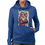 Sidney Maurer Original Portrait Of Hulk Hogan Womens Hooded Sweatshirt - Womens Hooded Sweatshirt