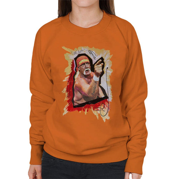 Sidney Maurer Original Portrait Of Hulk Hogan Womens Sweatshirt - Womens Sweatshirt