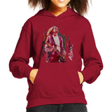 Sidney Maurer Original Portrait Of Kurt Cobain Guitar Kids Hooded Sweatshirt - Kids Boys Hooded Sweatshirt
