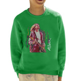 Sidney Maurer Original Portrait Of Kurt Cobain Guitar Kids Sweatshirt - Kids Boys Sweatshirt