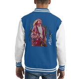 Sidney Maurer Original Portrait Of Kurt Cobain Guitar Kids Varsity Jacket - X-Small (3-4 yrs) / Royal/White - Kids Boys Varsity Jacket