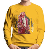 Sidney Maurer Original Portrait Of Kurt Cobain Guitar Mens Sweatshirt - Small / Gold - Mens Sweatshirt
