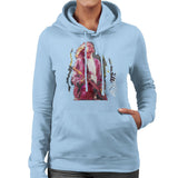 Sidney Maurer Original Portrait Of Kurt Cobain Guitar Womens Hooded Sweatshirt - Womens Hooded Sweatshirt