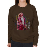 Sidney Maurer Original Portrait Of Kurt Cobain Guitar Womens Sweatshirt - Womens Sweatshirt