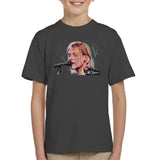 Sidney Maurer Original Portrait Of Kurt Cobain Singing Kids T-Shirt - Kids Boys T-Shirt