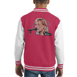 Sidney Maurer Original Portrait Of Kurt Cobain Singing Kids Varsity Jacket - Kids Boys Varsity Jacket