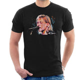 Sidney Maurer Original Portrait Of Kurt Cobain Singing Mens T-Shirt - Mens T-Shirt
