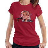 Sidney Maurer Original Portrait Of Kurt Cobain Singing Womens T-Shirt - Womens T-Shirt