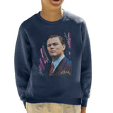 Sidney Maurer Original Portrait Of Leonardo DiCaprio Kids Sweatshirt - Kids Boys Sweatshirt