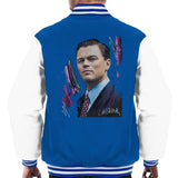 Sidney Maurer Original Portrait Of Leonardo DiCaprio Mens Varsity Jacket - Small / Royal/White - Mens Varsity Jacket