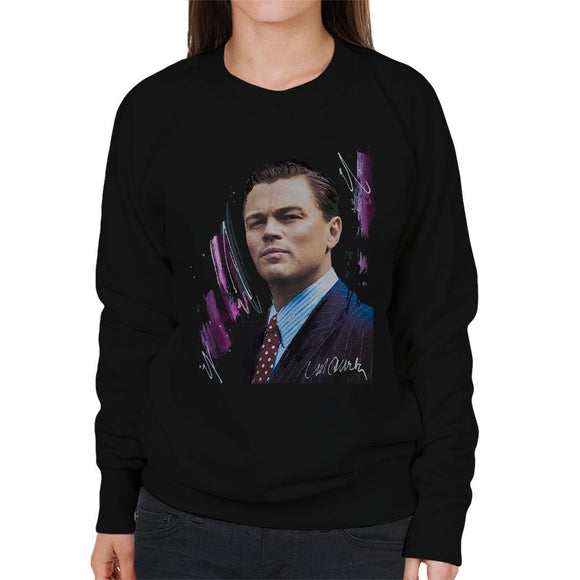 Sidney Maurer Original Portrait Of Leonardo DiCaprio Womens Sweatshirt - Womens Sweatshirt