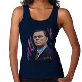 Sidney Maurer Original Portrait Of Leonardo DiCaprio Womens Vest - Small / Navy Blue - Womens Vest